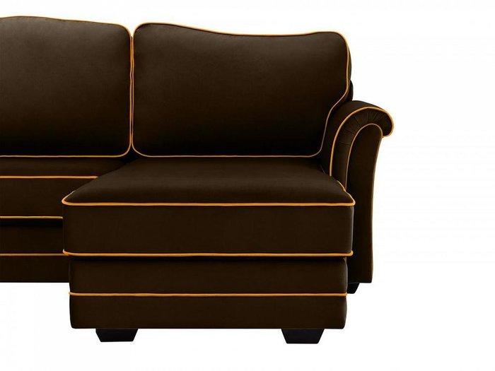 Угловой диван-кровать Sydney темно-коричневого цвета
