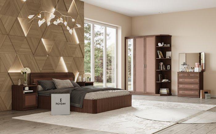 Кровать Магна 180х200 коричневого цвета с подъемным механизмом