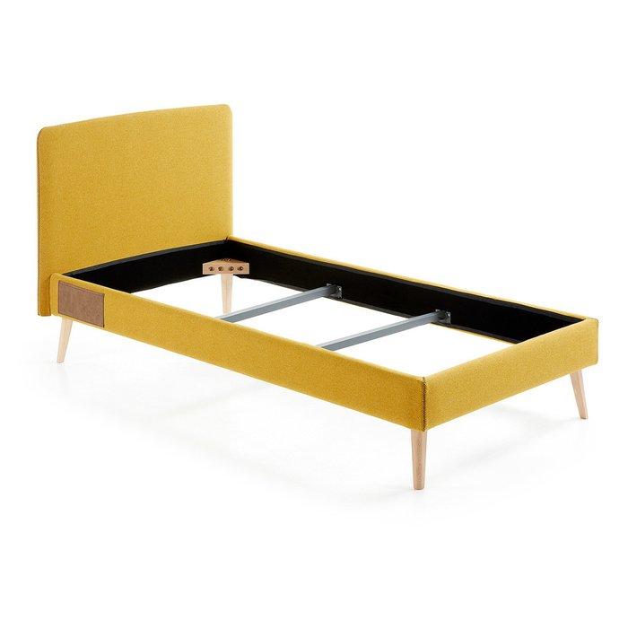 Кровать Julia Grup LYDIA  90x190 см горчичная