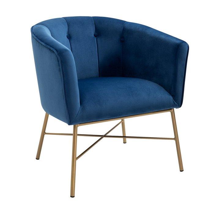 Кресло Шале синего цвета