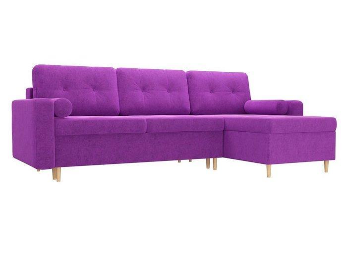 Угловой диван-кровать Белфаст фиолетового цвета