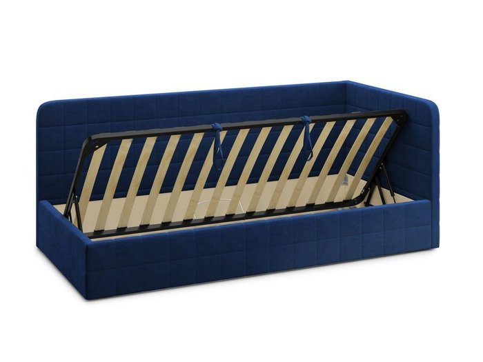 Кровать с подъемным механизмом Tichina 90х200 синего цвета