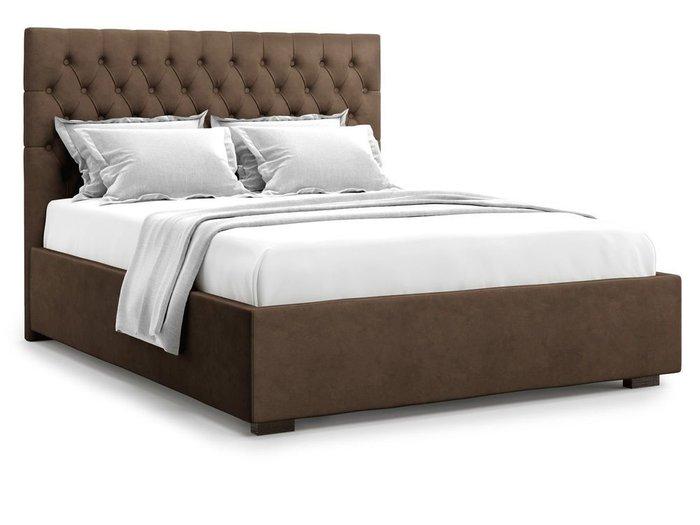 Кровать с подъемным механизмом Nemi 180х200 коричневого цвета