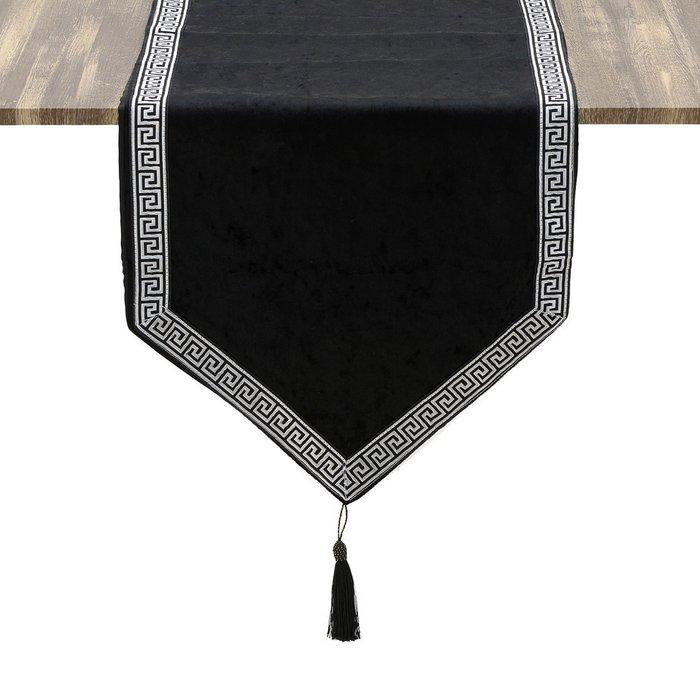 Скатерть-дорожка черного цвета