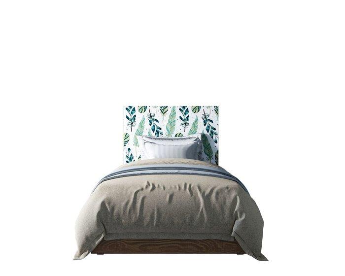 Кровать Berber 120х200 бело-зеленого цвета