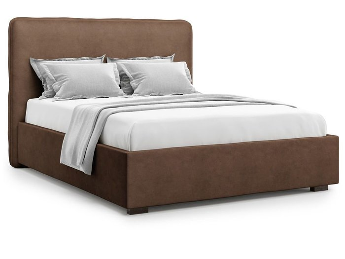 Кровать Brachano 160х200 коричневого цвета
