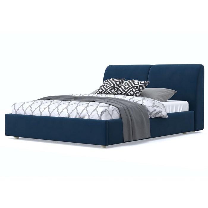 Кровать Бекка 120x200 синего цвета
