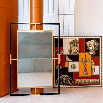 Настенное зеркало Авангард в металлической раме