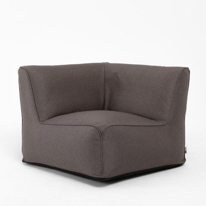 Модульное угловое кресло Lite темно-серого цвета