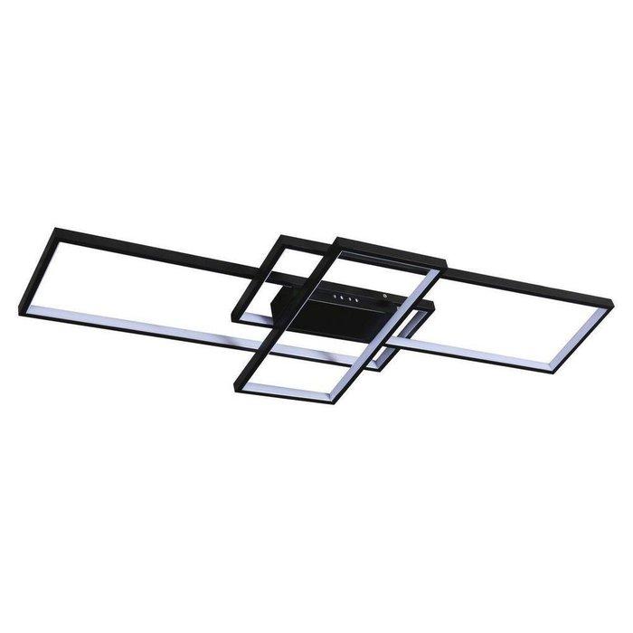 Потолочный светодиодный светильник Линд черного цвета
