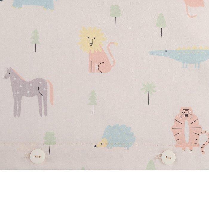 Комплект постельного белья с принтом animalia world из сатина 100х120