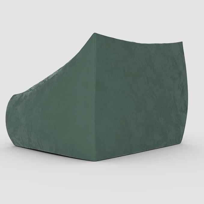 Кресло с подлокотниками Angle Velur Green зеленого цвета