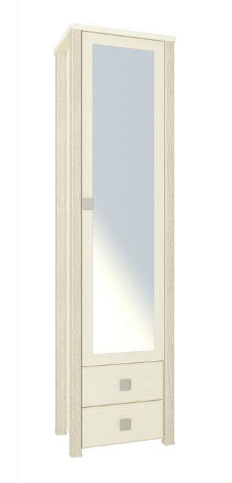Шкаф-пенал с зеркалом Изабель бежевого цвета