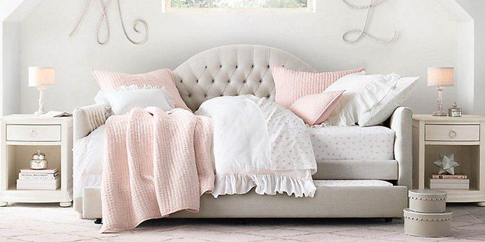 Диван-кровать Frank серого цвета 90х200