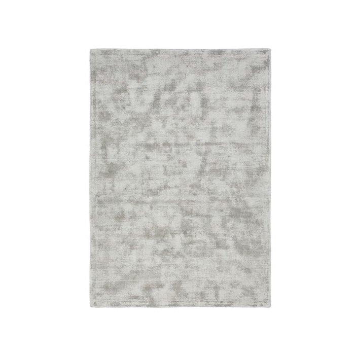 Ковер Izri с эффектом старины из вискозы серого цвета 120x170