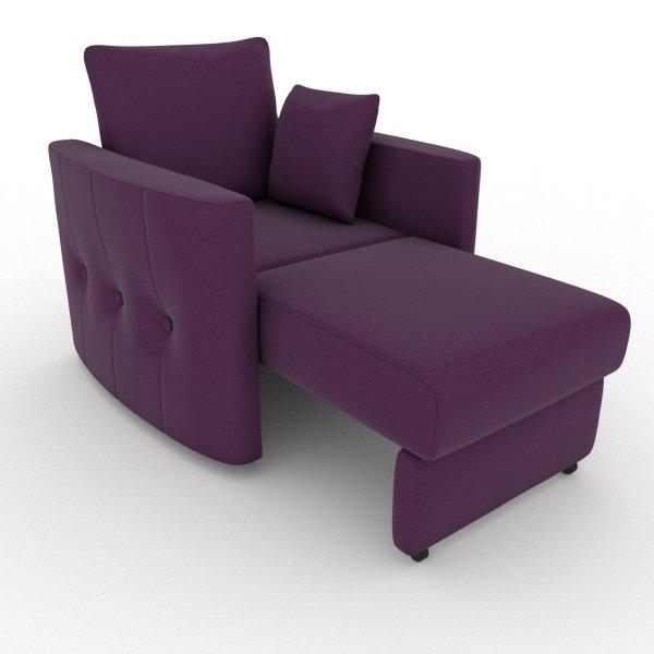 Кресло-кровать Luna фиолетового цвета