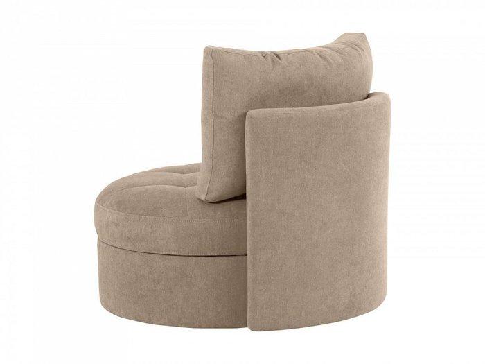 Кресло Wing Round серо-бежевого цвета