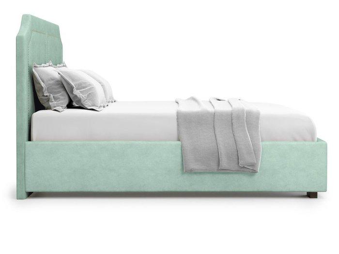 Кровать с подъемным механизмом Lago 180х200 мятного цвета