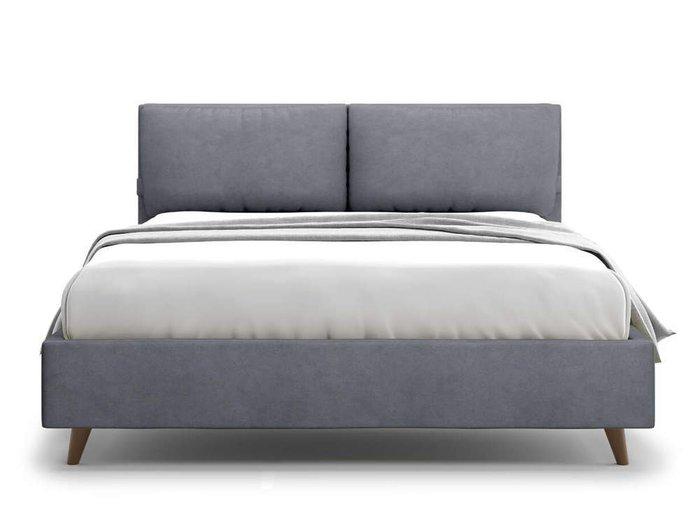 Кровать Trazimeno 160х200 серого цвета