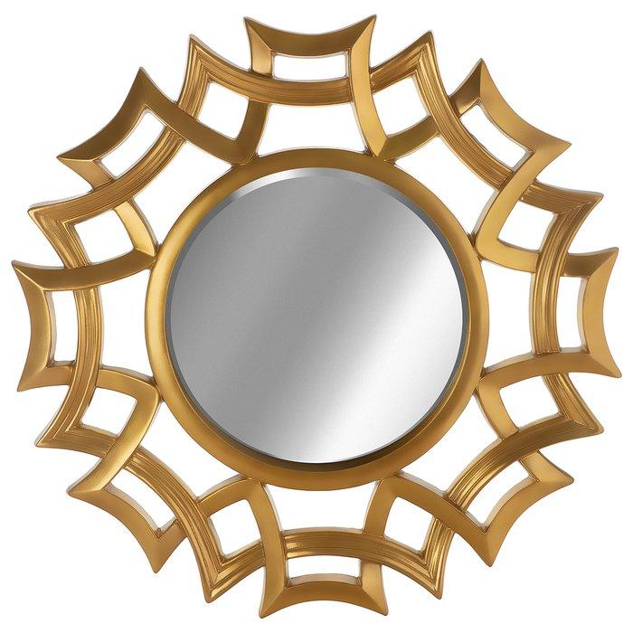 Зеркало настенное Верона золотого цвета
