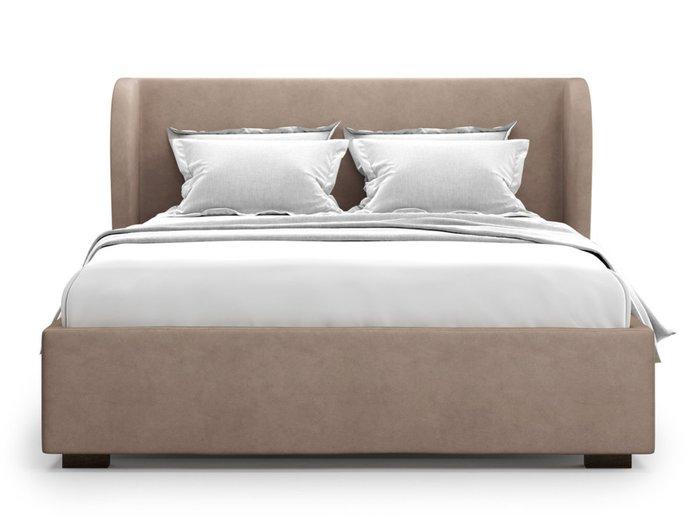 Кровать Tenno 160х200 светло-коричневого цвета с подъемным механизмом