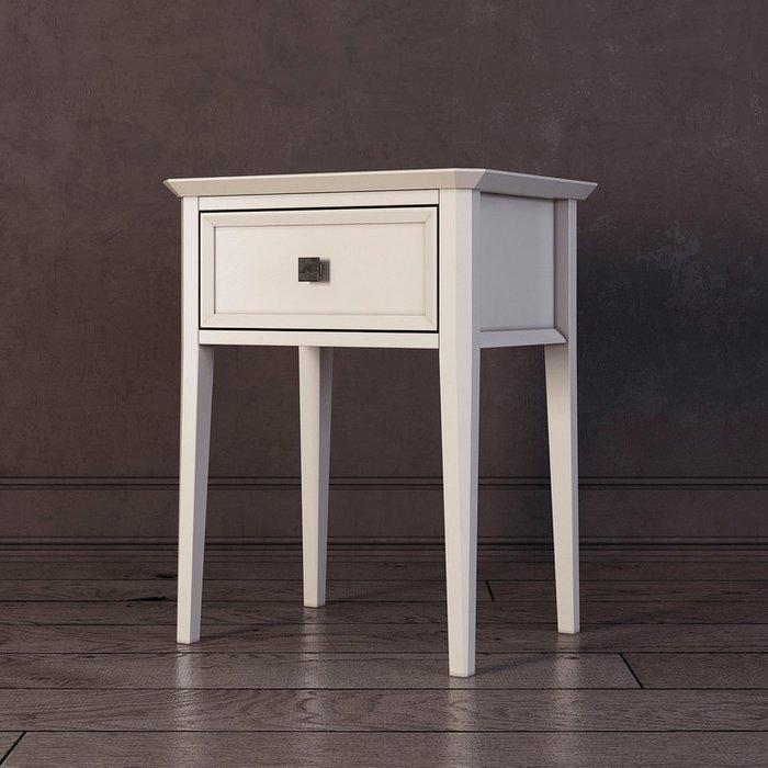 Тумба прикроватная с ящиком Ellington белого цвета