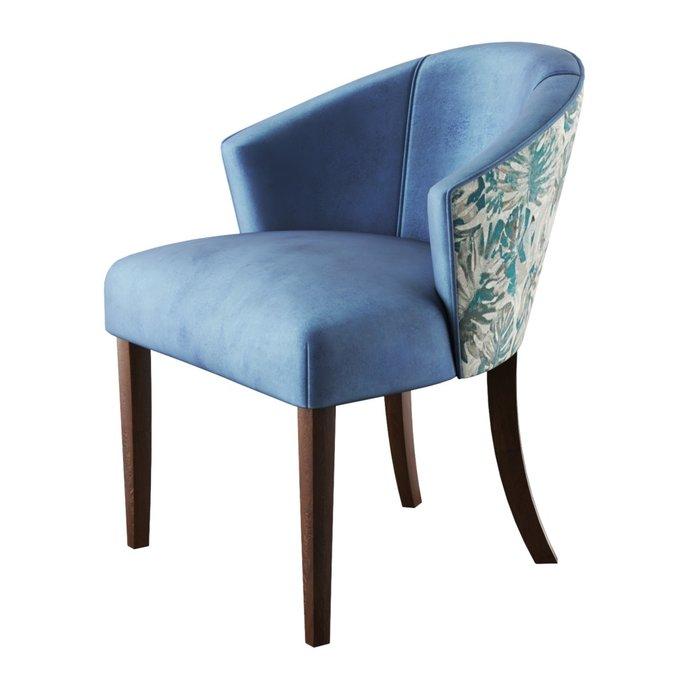 Стул-кресло мягкий Adonis бежево-голубого цвета