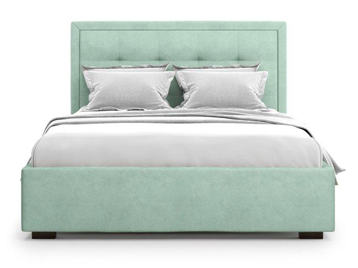 Кровать Komo 180х200 бирюзового цвета с подъемным механизмом