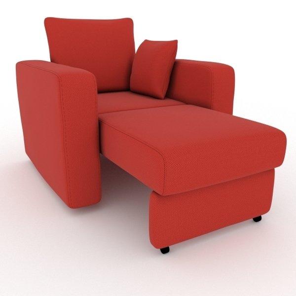 Кресло-кровать Liverpool красного цвета