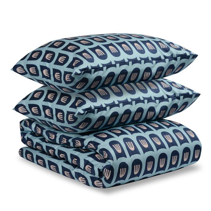 Двусторонний комплект постельного белья Essential из сатина с принтом blossom time 200х210