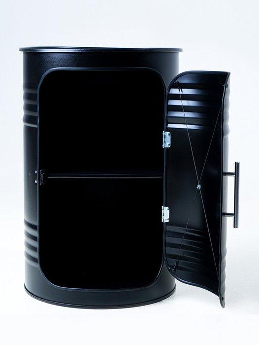Кофейный столик-бочка Pro Black черного цвета