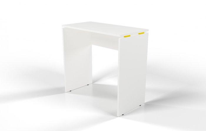 Стол барный белый с желтой проставкой