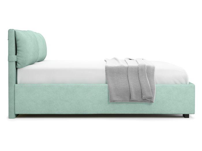 Кровать Trazimeno 140х200 бирюзового цвета с подъемным механизмом