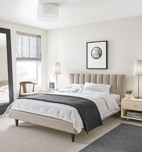 Кровать Клэр 160х200 бежевого цвета с подъемным механизмом