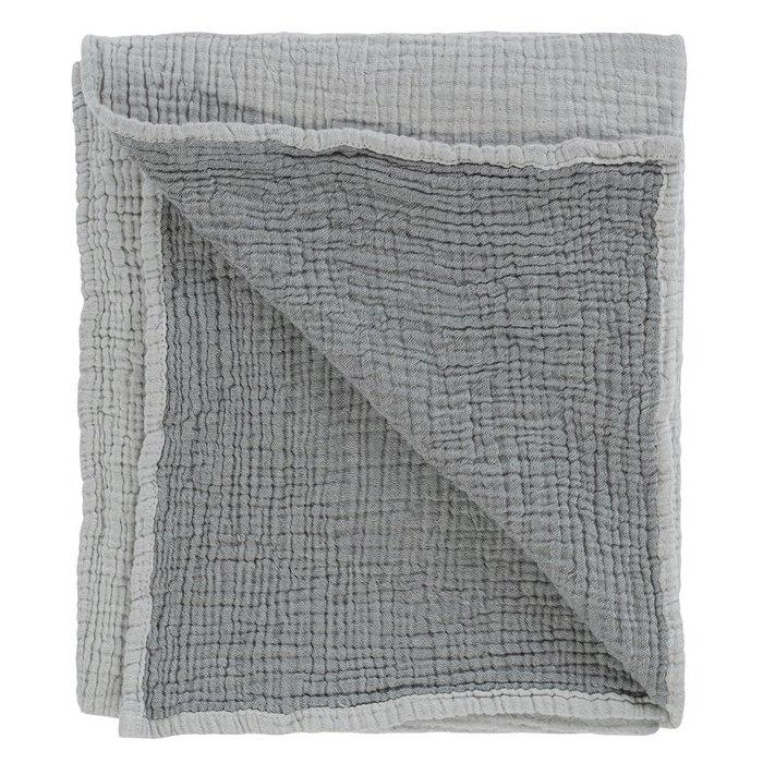 Одеяло из жатого хлопка серого цветаl 90x120