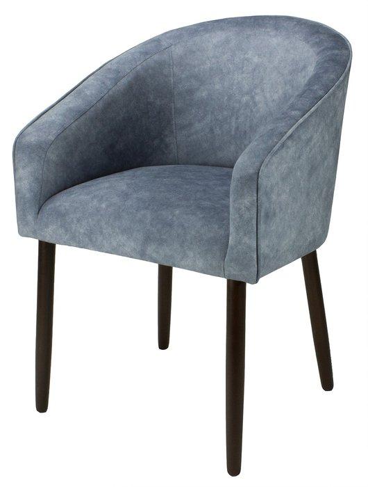 Стул-кресло мягкий Angelica темно-серого цвета