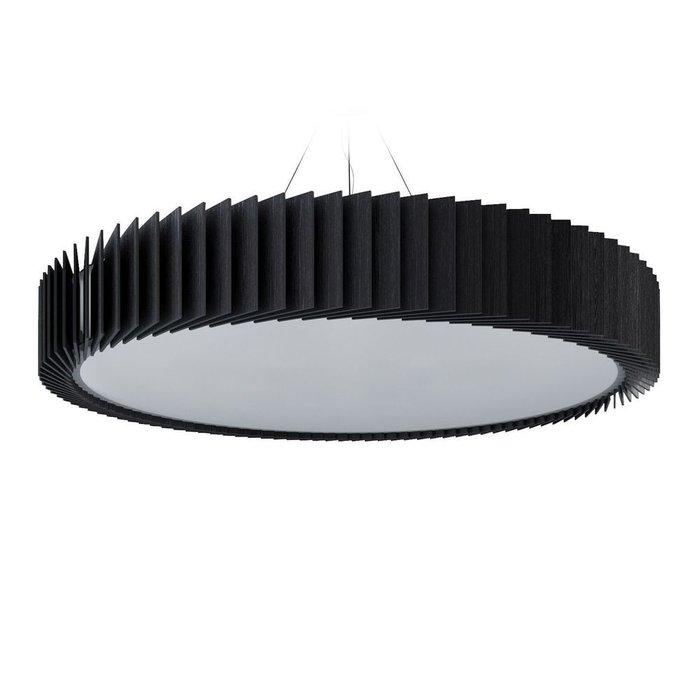 Подвесной светильник Rotor из дуба черного цвета 1000