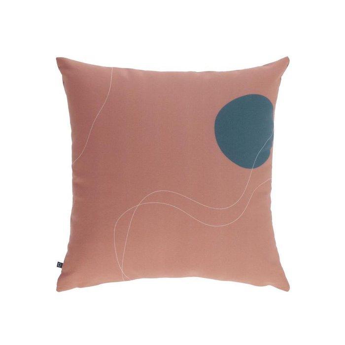 Чехол для подушки Abish с геометрическими фигурами коричневого цвета 45x45