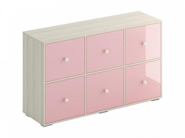 Тумба Play розового цвета