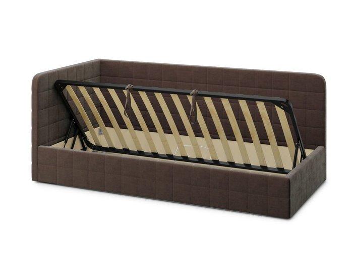 Кровать с подъемным механизмом Tichina left 90х200 коричневого цвета