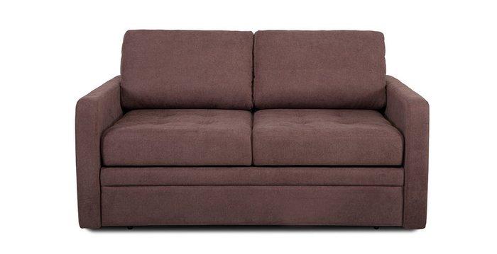 Прямой диван-кровать Бруно коричневого цвета