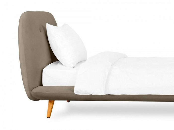 Кровать Loa 90х200 серо-коричневого цвета
