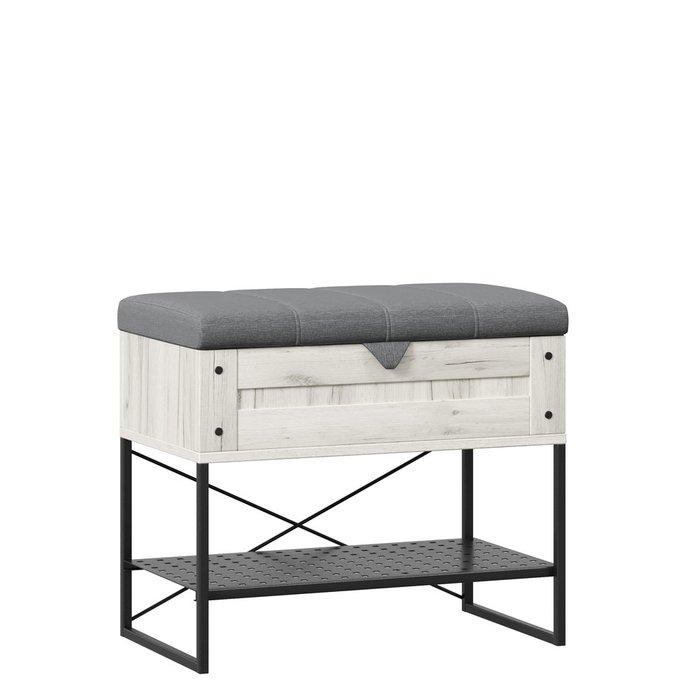 Банкетка Сидней бежево-серого цвета