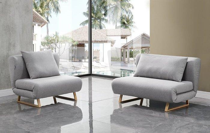 Кресло-кровать Rosy серого цвета