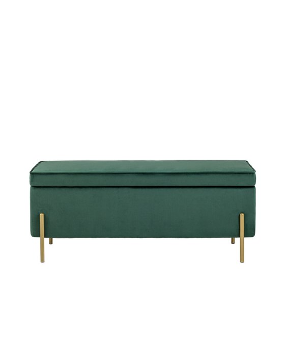 Банкетка Тюдор зеленого цвета