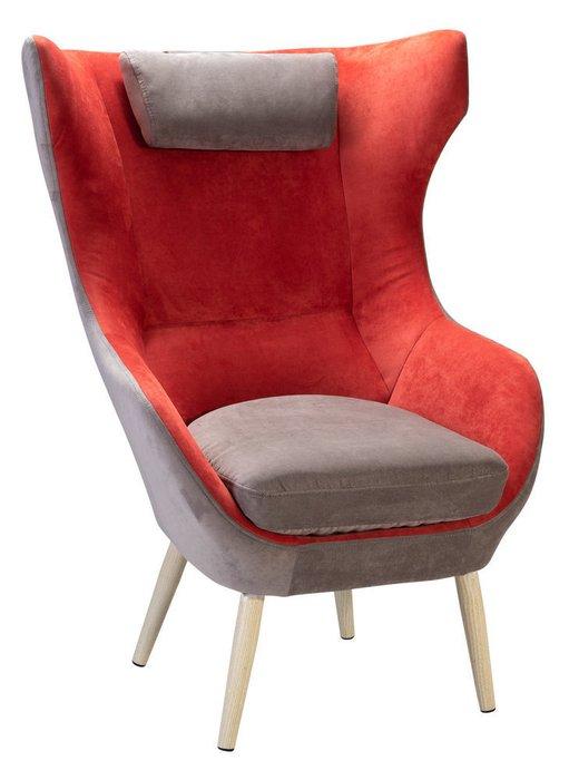 Кресло Сканди-2 Бриг серо-красного цвета