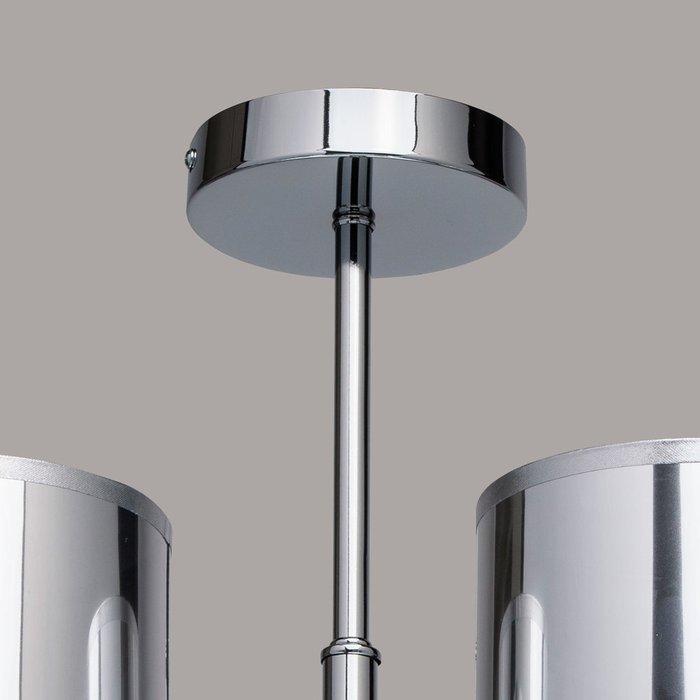 Потолочная люстра Лацио с зеркальными плафонами