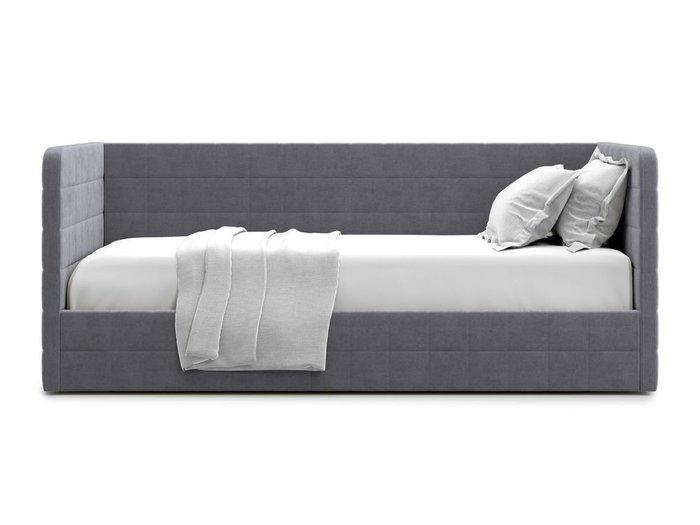 Кровать с подъемным механизмом Brenta 120х200 серого цвета