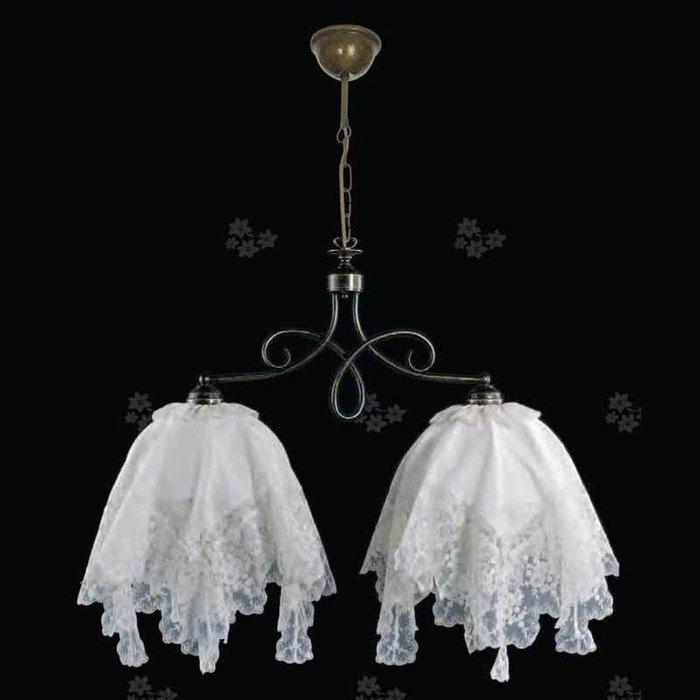 Подвесной светильник Jago VIOLA с двумя белыми текстильными абажурами