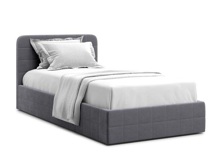 Кровать с подъемным механизмом Adda 120х200 серого цвета